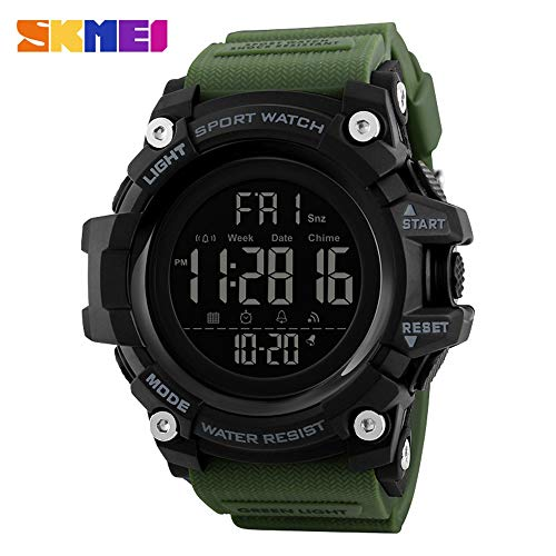 Jusheng Sportuhr Military Camouflage Mode Herren Elektronische Uhr Multifunktions-Countdown Student LED Watch (Color : 5)