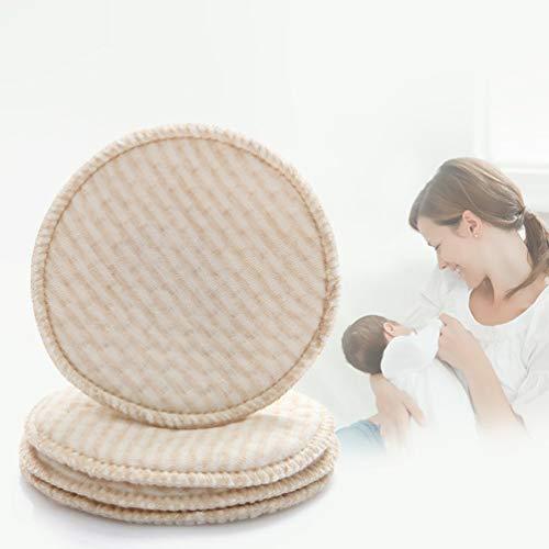 4 STÜCKE Non-Woven Cotton Collection Stillen Brust Pads Stillen Saugfähigen Bezug Stay Dry Cloth Pad - Kaffee -