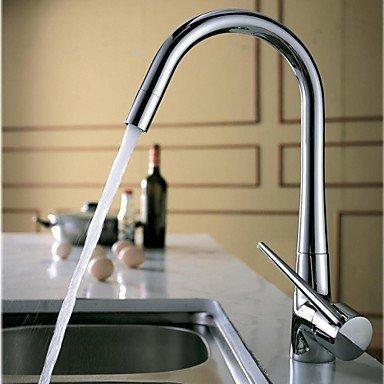 SHUYOU® Contemporary Rotatable One Hole Single Handle Kitchen Faucet - Chrome Finish