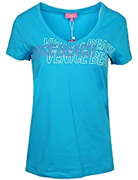Venice Beach Damen T-Shirt Diva Blue Malu Body-Shirt 13227-00-715