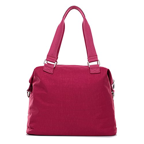 Suzone da donna in nylon borsa messenger a tracolla zainetto sportivo Pack Leisure borsa a tracolla, donna, Rose Red Purple