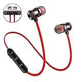 trybhi®️ Wireless Earbuds Earphones Bluetooth Headphones, Sport Sweatproof in-Ear Earbuds Magnetic Headset Microphone