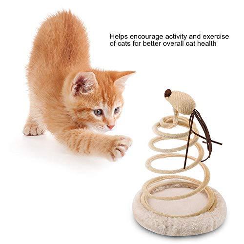 HEEPDD Cat Spiral Sucker Mouse Spring Toy Divertente Cat Teaser Catcher Interactive Toy Kitten Scratcher Articoli per Gatti per Piccoli Animali Animali Domestici Giocare a Saltare Cattura