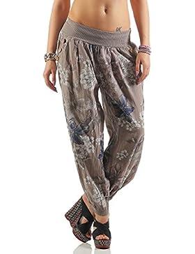 ZARMEXX Señoras pantalones harén pantalones del estilo del verano de todo pantalones casuales de impresión Harem...