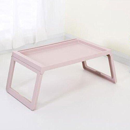 VOne Klapptisch Klapptisch Bracket Bett Laptop Tisch Multifunktions Zusammenklappbar Student Dormitory Faule Tisch (Farbe : Pink)