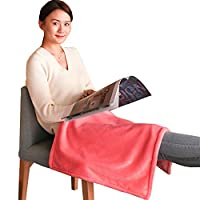 LBAFS Electric Blanket Single Small Heating Warm Blanket For Winter Home Office Leg Knee Body Warm Cover Throw,Soft And Cozy Heated Cushion,A