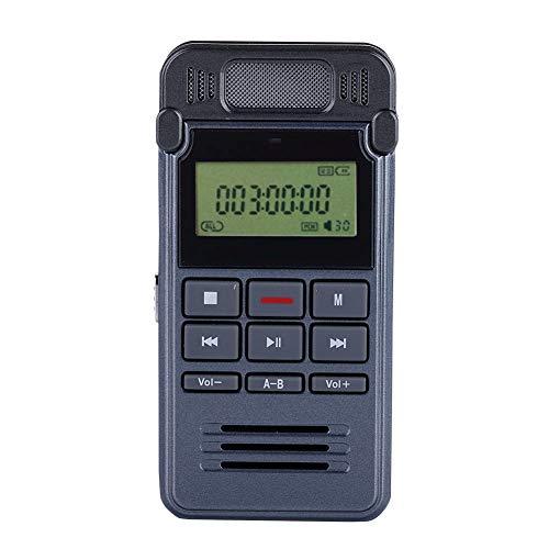 ASHATA Digitales Diktiergerät, 8GB Diktierapparat Tonaufnahmegerät Audiorekorder MP3-Player,Tragbar A-B-Wiederholung Digital Voice Recorder Telefon Aufnahme Recorder für Vorlesung Meeting Interview