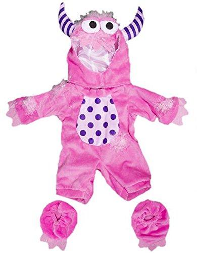 Rosa Monster Teddybär Kostüm - Halloween - 20cm - Teddybär-Klamotten - (Build Bear A Kostüme)