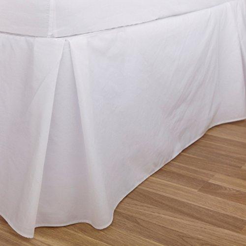 Charlotte Thomas Drap uni percale Luxueux plate-forme de Parure de lit Tour de lit, Ivoire – Taille double