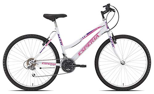 Esperia, Bicicletta mountain bike MTB, Donna, Bianco, 26