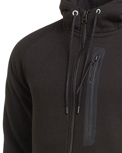 BLZ jeans - Schwarz Reißverschluss Strickjacke Schwarz