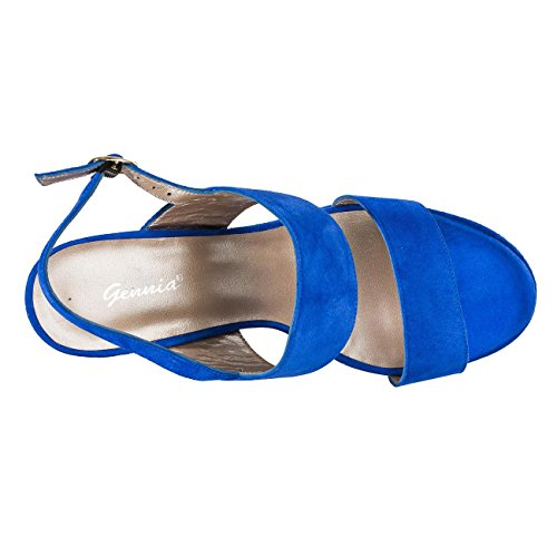 Ex-usine mules paLM bEACH pour femme Bleu - Bleu