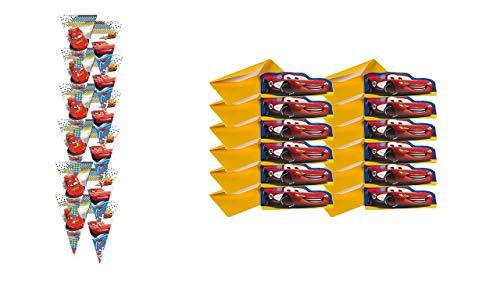 Party Pack und Geburtstag Disney Cars; bestehend aus 12 Einladungen und 12 Taschen. ()