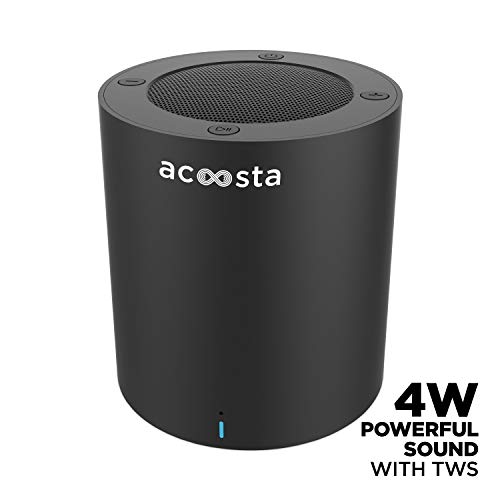 ACOOSTA Bold 220, Portable Wireless Bluetooth Speaker (4 watt) with True Wireless Stereo (TWS), Built in Mic, Aux & Upto 6hrs of Playtime