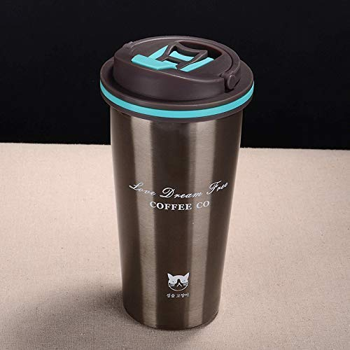 Baskety Stainless Steel Tumblers, Vacuum Insulated Travel Mug, Coffee Cup for Home, Office, School, Works Great for Ice Drink, Hot Beverage 500ml. (Grey)