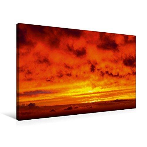 Calvendo Premium Textil-Leinwand 75 cm x 50 cm quer, Mauna Kea, Sunset Hill, Hawai'i | Wandbild, Bild auf Keilrahmen, Fertigbild auf echter Leinwand, Leinwanddruck Orte Orte