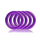 Ganzoo O - Ring aus Stahl, 4er Set, DIY Hunde-Leine/Hunde-Halsband, nichtrostend, Ideal mit Paracord 550, geschweißt, Farbe: violett