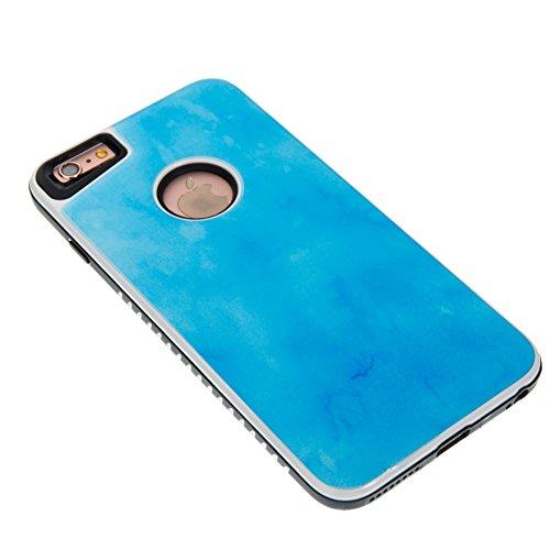 Marmor Pattern Dual Layer Hülle für iPhone 6 Plus, iPhone 6S Plus, Sunroyal Scratch Resistant Case PC TPU Silikon Gel Ultra Slim Schutz Cover Schock-Beweis Bumper Etui Kratzfeste Dauerhaft Rundum-schu Pattern #3