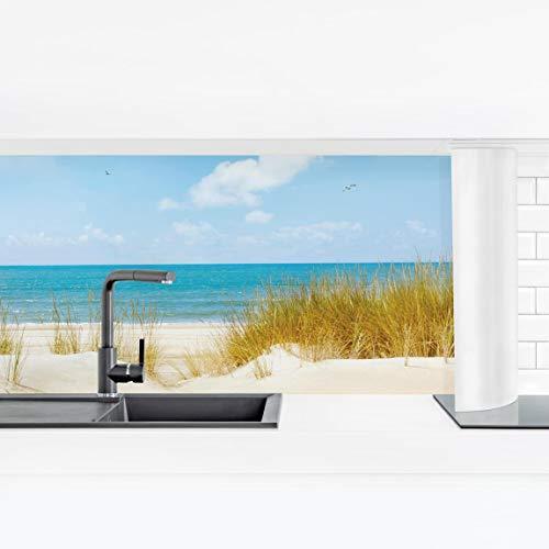Bilderwelten Küchenrückwand Panorama Folie Bad - Strand an der Nordsee Premium 90 x 315 cm