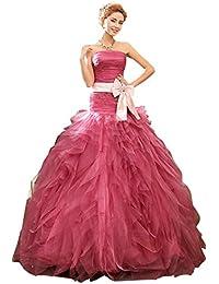 Beauty-Emily Meerjungfrau Rüschen Plissee Rohr  Bowknot-Gurt-Wassermelone-Rot Hochzeitskleid b4fe69f6fb