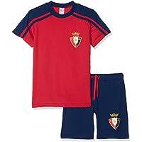 Club Atlético Osasuna Pijosa Pijama Corta, Infantil, Multicolor (Negro/Rojo),