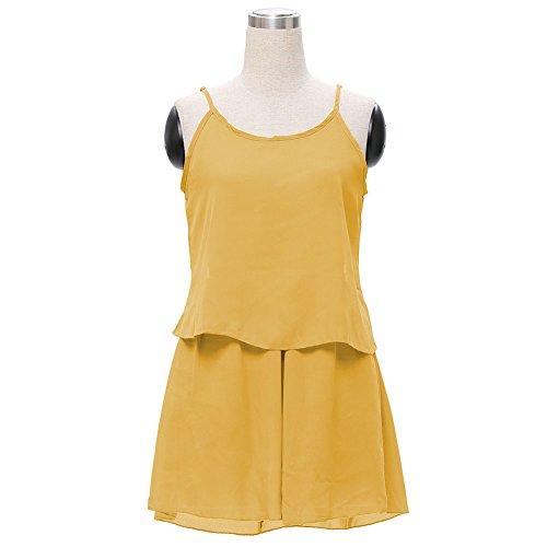 Ruiyige Damen Kleid Gr. L, gelb (Strapless Scoop)