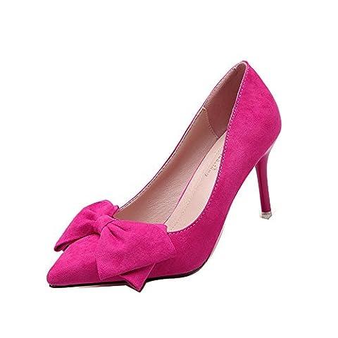 Ladola Dgug00249, Danse de Salon femme - rouge - Rose/rouge,