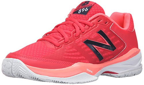 New Balance Women's 896v1 Tennis Shoe, Bright Cherry/Guava, 7 B US