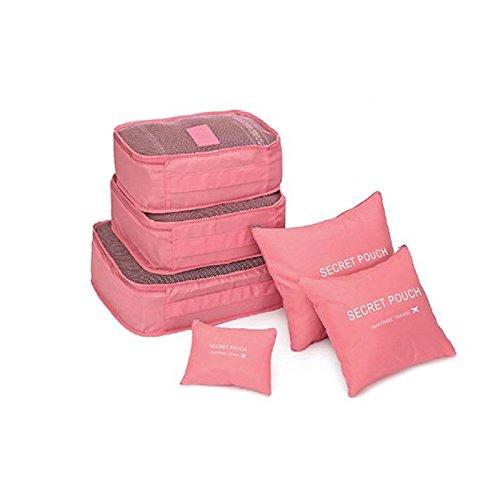 symboat 6pcs/set cuadrado de viaje equipaje bolsas de almacenaje rop