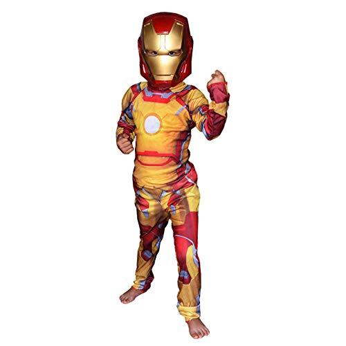 ASJUNQ Spider-Man Iron Man Enge Kleidung Kinder Rollenspiel Film Kostüm Thema Party Requisiten Halloween,D-M