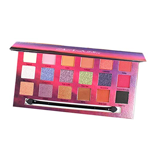 Pinmaoo Shimmer Matte Eyeshadow Palette, 18 Colors Long Lasting Highly Pigmented Eye Shadow (9 Matte+4 Shimmer+5 Polarized Light) (3-5 Days Delivery) Pigmented