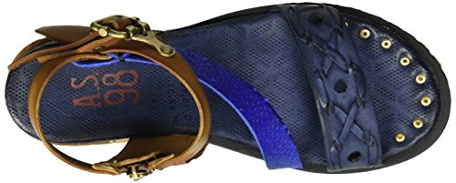 A.S.98 Punch, Bride cheville femme Blau (MIRTILLO/natur/Klein/MIRTILLO)