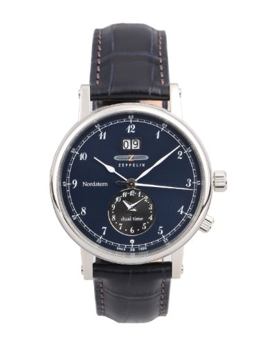 Zeppelin Watches Men's Quartz Watch 7540-3 7540-3 with Leather Strap