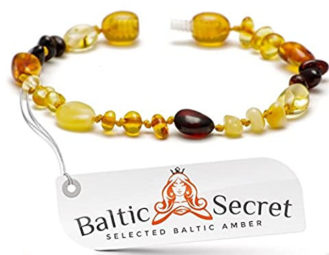 Baltic Amber Bracelet Anklet / Genuine Amber Beads that are 50% Richer & Higher in Value / 100 Days Money-Back Guarantee! / Sizes from 13 to 20 CM /
