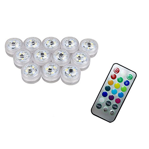 12 x LED Luz Sumergible mando distancia
