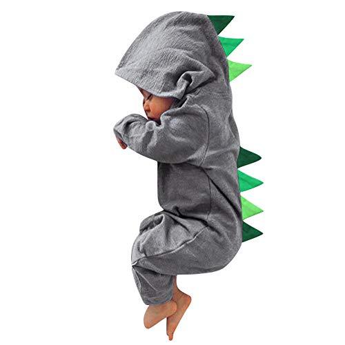 MRULIC Neugeborenes Baby Jumpsuit Outfit Dinosaurier Reißverschluss mit Kapuze Spielanzug Overall Outfit Kleidung Niedlicher Babyschlafsack Onesies Herbst und ()