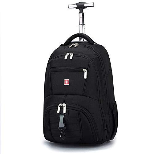 SKLLA Rolling Rucksack, Rollsack Rolling Carry-on Gepäck Travel Duffel Bag, Carry On Gepäck Koffer, Roller-Rucksack für Laptop bis 17 Zoll - Carry On Rucksack Gepäck