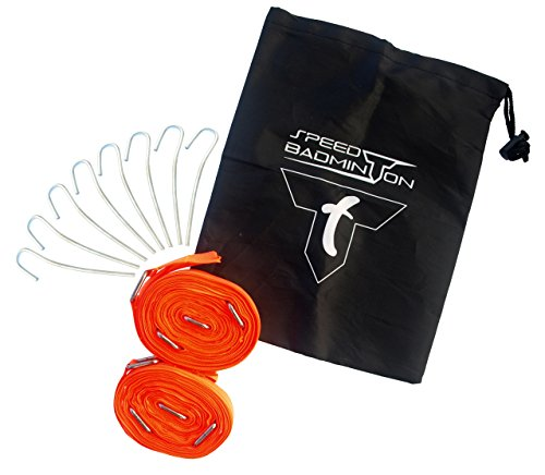 Talbot Torro Speed Badminton Court Lines im Blister Spielfeldmarkierung, Neon Orange, 490185