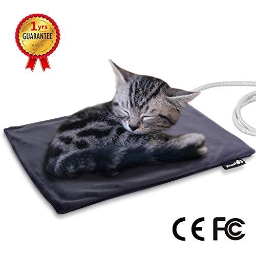 Pecute Haustier Heizkissen Heizmatte für Hund Katze Wärmematte Konstante Temperatur Sicher und wasserdicht Heizdecke Für Neugeborene Welpen/Kätzchen, ältere Katzen/Hunde S(40 * 32cm)