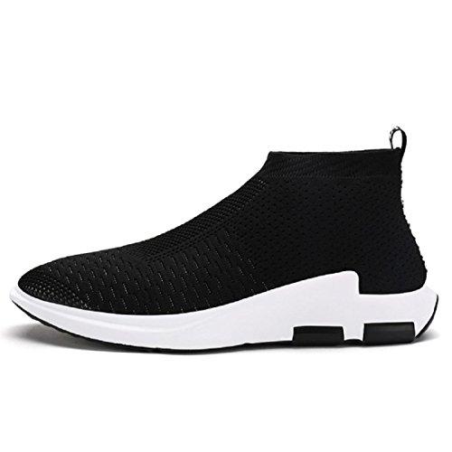 Herren Atmungsaktiv Freizeitschuhe draussen Lässige Schuhe Flache Schuhe Ausbilder Lazy Schuhe Black