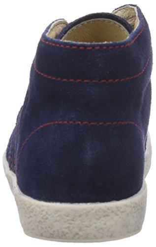 Naturino  FALCOTTO 1195, Baskets premiers pas bébé Multicolore - Mehrfarbig (NAVY CUC + LACCI ROSSI)