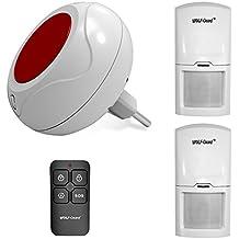 Sistema de alarma en directo con sensor de movimiento Wolf Guard, sirena estroboscópica interior de