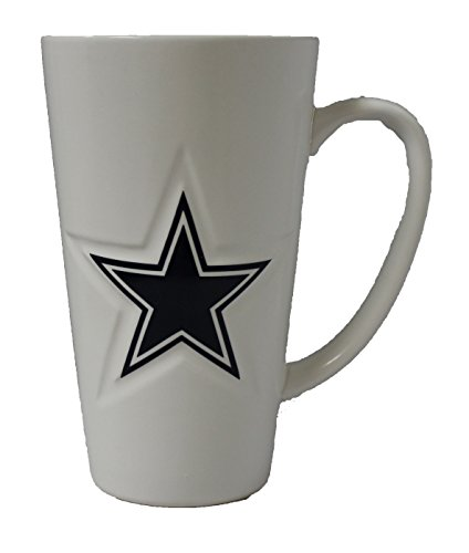 Boelter Dallas Cowboys 16 oz Weiß Keramik Latte Kaffee Tasse
