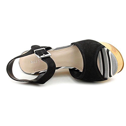 BCBGeneration Vendi Damen Nubukleder Keilabsätze Sandale Black
