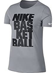 Nike W Nk Dry Tee Df Lockup Camiseta de Manga Corta, Mujer, Gris (Wolf Grey), 4XL/T