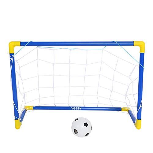 Mini Fußballtor Set Faltbar Fußballtor mit Fußball, Netz und Pumpe für Kinder Fußball Spiel (60 * 41 * 29cm) -