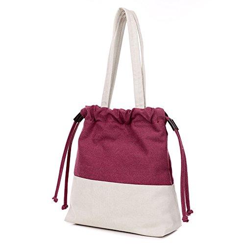 FancyBag - Tela Donna Unisex Borsa a tracolla Slide Rope Strap Design Borsa Borsa a spalla Borse Tote Croce di colore Backpack Rosso