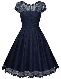 suchergebnis auf f r festliche kleider knielang blau bekleidung. Black Bedroom Furniture Sets. Home Design Ideas