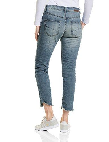 Cecil, Pantalon Femme Blau (Light Blue Used Wash 10349)