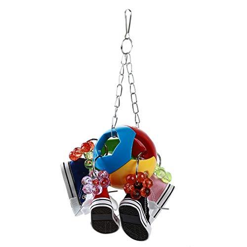 Yinew Vögel Kauen Hängen Spielzeug Multicolor Ball Sneaker Papagei Kauen Klettern Spielzeug Heimtierbedarf -